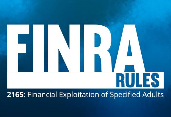 FINRA Rule 2165