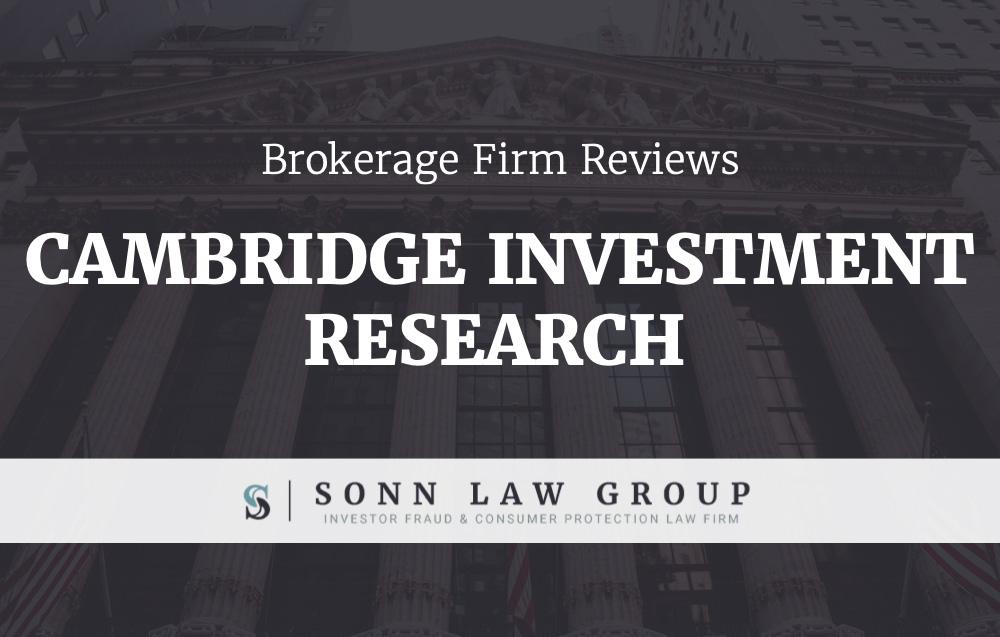 cambridge investment research complaints