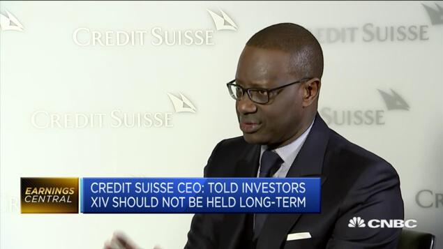 Credit Suisse CEO on XIV ETNs