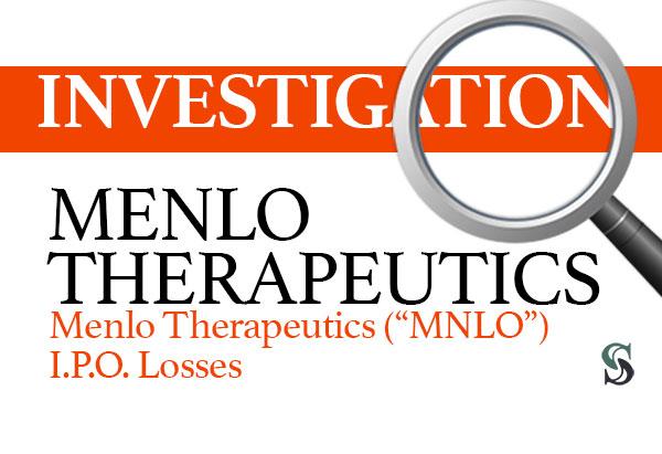 Menlo-Therapeutics-MNLO-I.P.O.-Losses