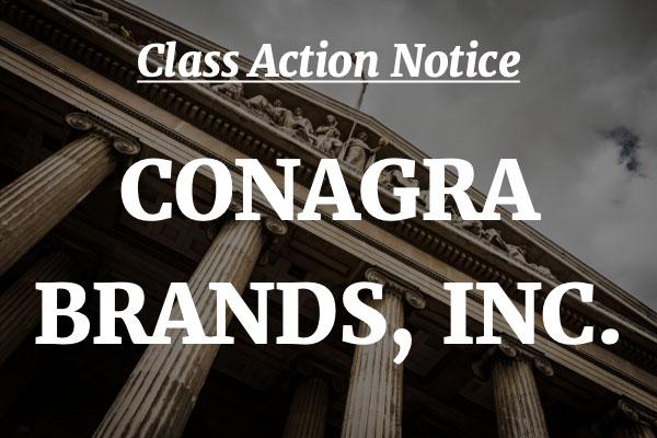 conagra class action lawsuit