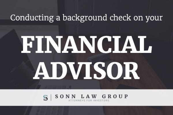 financial advisor background check