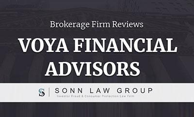Voya Financial Advisors Complaints