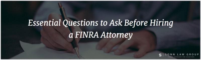 Best FINRA Attorneys