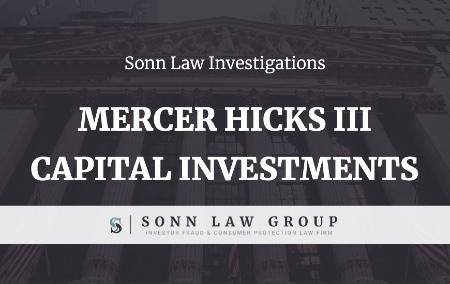 Mercer Hicks III - Capital Investment Group