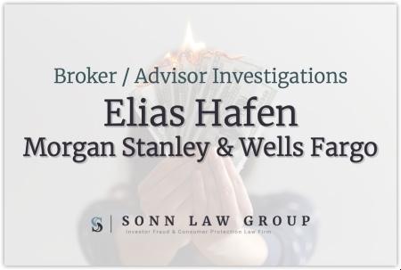 Elias Hafen - Wells Fargo and Morgan Stanley