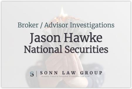Jason Hawke - National Securities Corporation