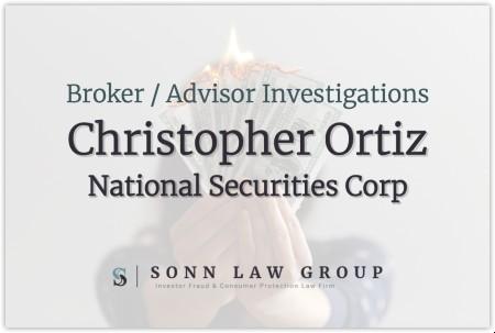 Christopher Ortiz, Broker for National Securities Corporation