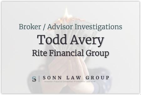 Todd Avery, Advisor for Rite Financial Group