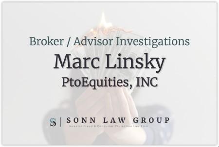 Marc Linsky, Broker for ProEquities